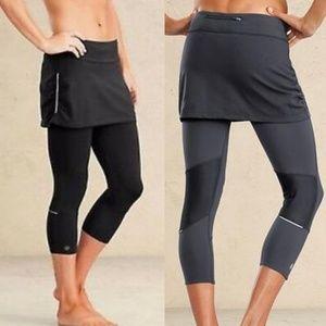 Athleta Contender Capri 2 in 1 skirt leggings XS